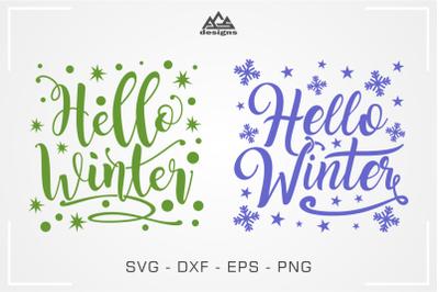 Hello Winter_Christmas Winter Svg Design