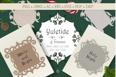Christmas SVG bundle, Holiday SVG, Frame SVG, Vintage SVG