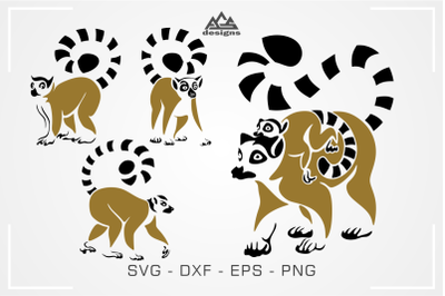 Lemur Madagascar Animal Svg Design