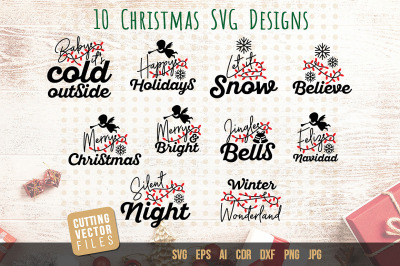 Christmas Quotes SVG Bundle