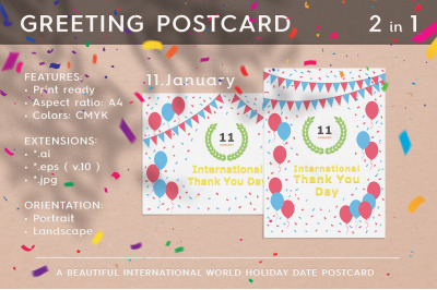 January 11 - International Thank You Day