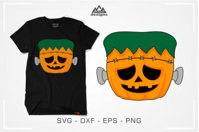 Cute Pumpkenstein Funny Pumpkin Halloween Svg Design