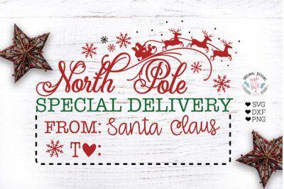 North Pole Special Delivery Christmas Cut File