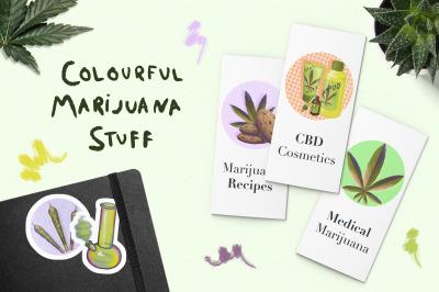 Colourful Marijuana Stuff