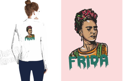 Frida Embroidery Design, Frida Embroidery Art, Mexican Artist