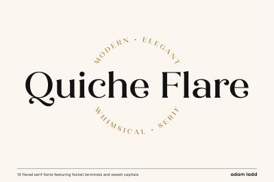 Quiche Flare Font Family