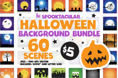 Spooktacular HALLOWEEN SCENES Bundle - 60 in 1