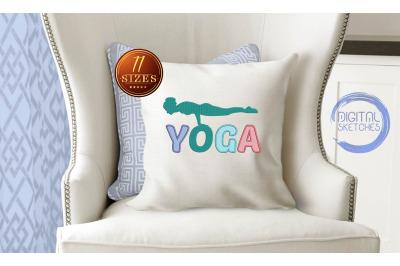Yoga Applique Design, Yoga Embroidery, Yoga Studio, Asanas
