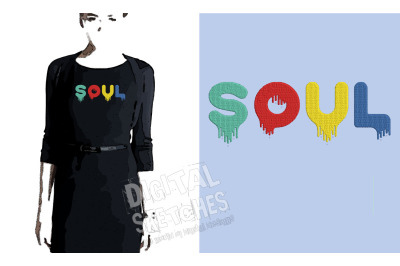 Soul Embroidery Design, Saying Embroidery, Quote Embroidery Pattern