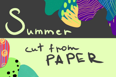 Summer cut from paper