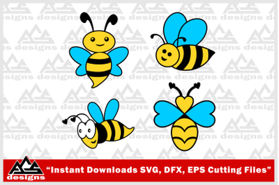 Cute Bee_Bee Svg Design