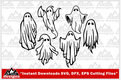 Ghost Packs Halloween  Svg Design
