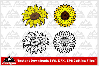 Sun Flower Svg Design