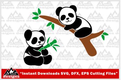 Cute Panda Svg Design
