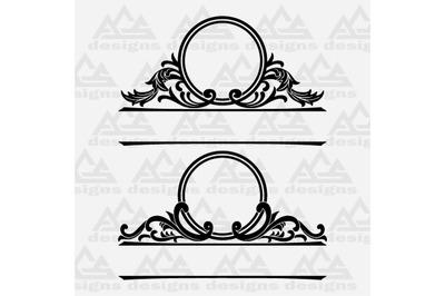 Mailbox Monogram Frame Svg Design
