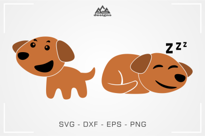 Cute Dog Svg Design