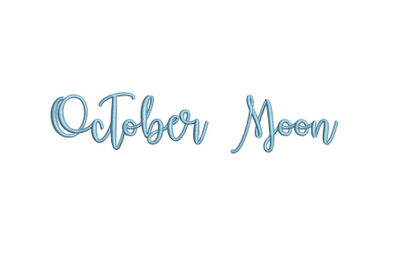 October Moon 15 sizes embroidery font (MHA)