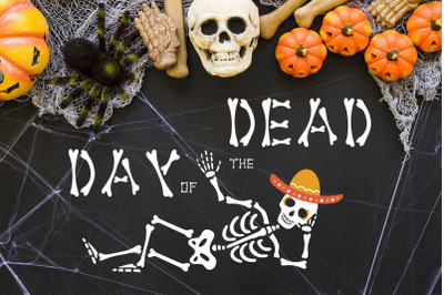 Dead Day Font and Graphics Pack