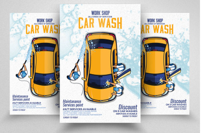 Car Wash Service Flyer / Poster Template