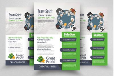 Business Recruitment Flyer template