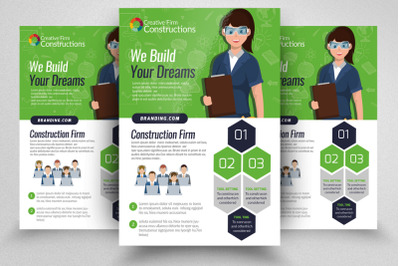 Construction and Engineering Flyer Template