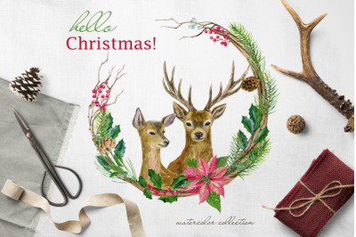 Hello Christmas! Watercolor set