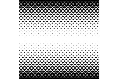 Seamless geometric vector background.Black scales on white background.