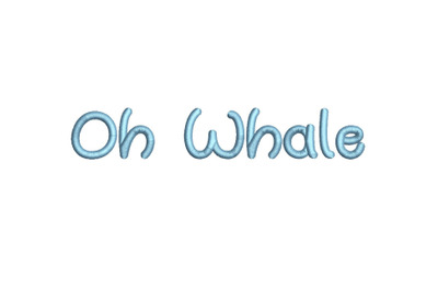Oh Whale 15 sizes embroidery font (MHA)