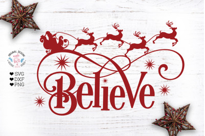 Believe Christmas Cut File