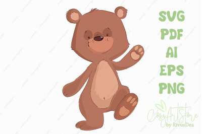 Teddy Bear SVG cute bear PNG, Cute baby anim