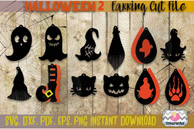SVG, DXF, PDF, PNG, and EPS Halloween Bundle 2 Spider web, Witch Hat