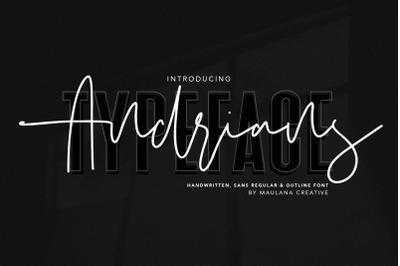 Andrians Script Sans Font