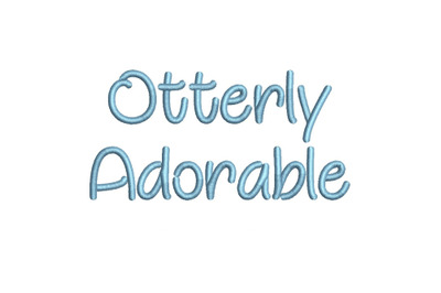 Otterly Adorable 15 sizes embroidery font (MHA)