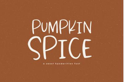 Pumpkin Spice - A Handwritten Font