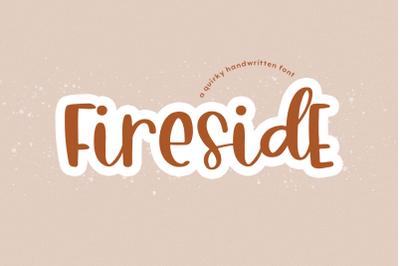 Fireside - A Quirky Handwritten Font