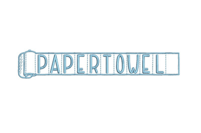 Paper Towel 15 sizes embroidery font