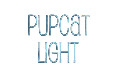 Pupcat Light 15 sizes embroidery font (RLA)
