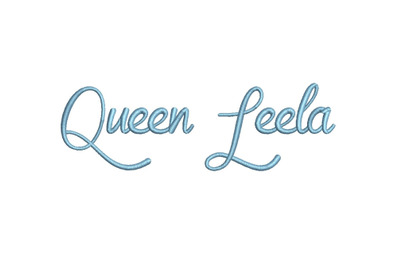 Queen Leela 15 sizes embroidery font (MHA)