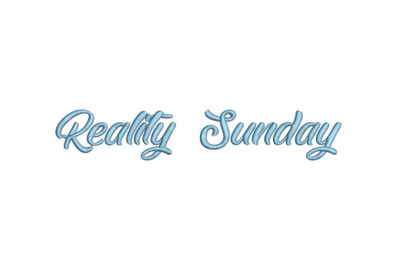 Reality Sunday 15 sizes embroidery font
