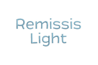 Remissis 15 sizes embroidery font (RLA)