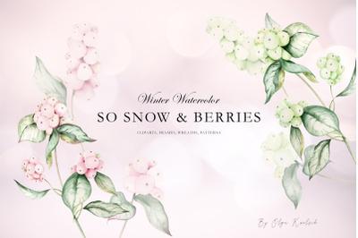 Watercolor Snowberries Wedding Set