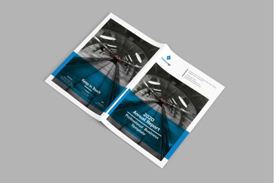 Mblandang - A4 Annual Report Brochure Template