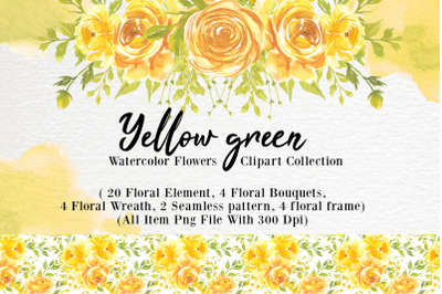 yellow flower watercolor clipart