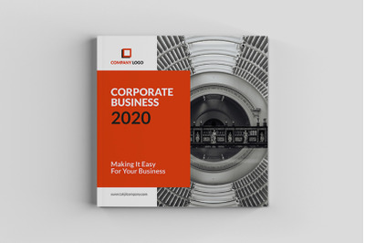 Pakumantan - Square Corporate Brochure Template