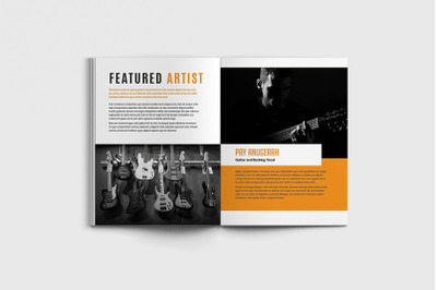Musika - A4 Music Brochure Template