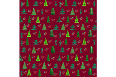 Seamless Christmas pattern .