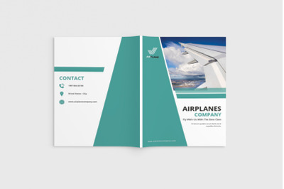 Jetcore - A4 Airlines Brochure Template