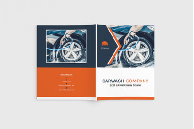 Autowash - A4 Car Wash Brochure Template