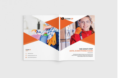 Cleancore - A4 Cleaning Service Brochure Template