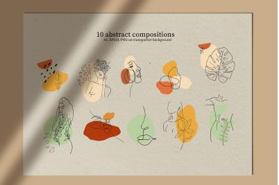 Beauty. Line Art Compositions